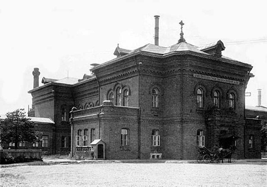 Prédio administrativo do hospital, em 1913.
