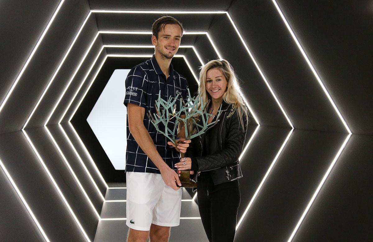 ダニイル・メドヴェージェフ選手と奥さん、2020年