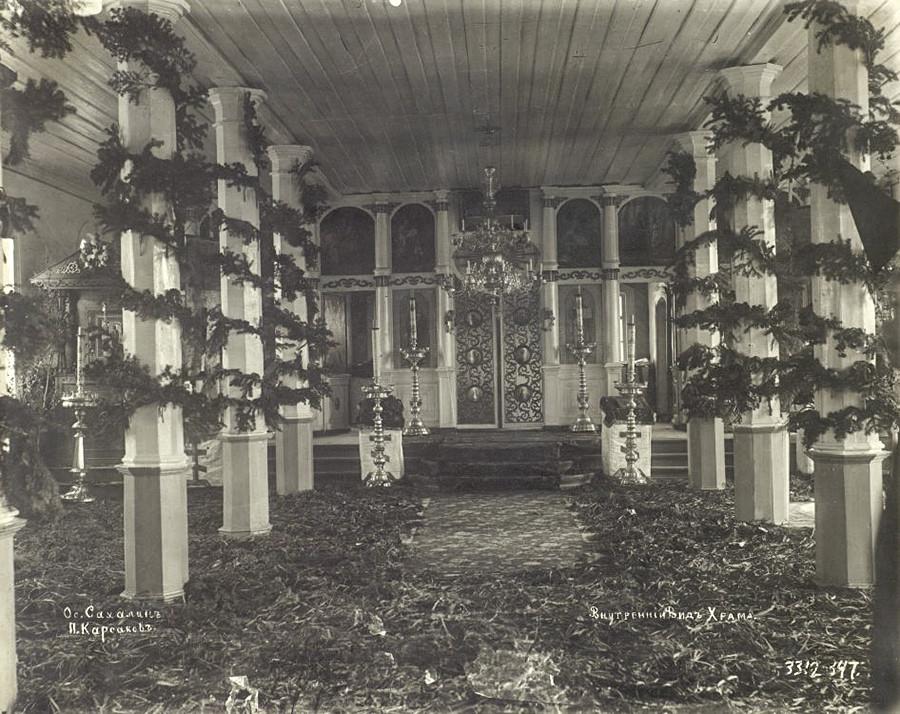 寺院の内部、サハリン