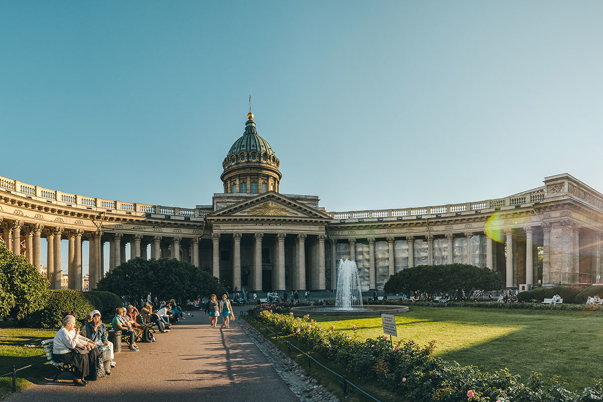 The Kazan Cathedral in St. Petersburg