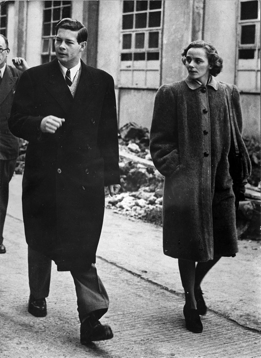Романскиот крал со сопругата во Лондон, 1947 година.