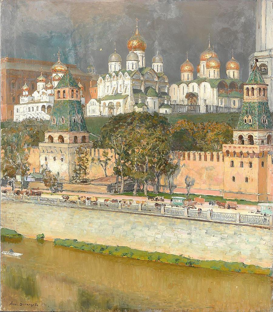 Kremlin de Moscou. Cathédrales, par Apollinaire Vasnetsov