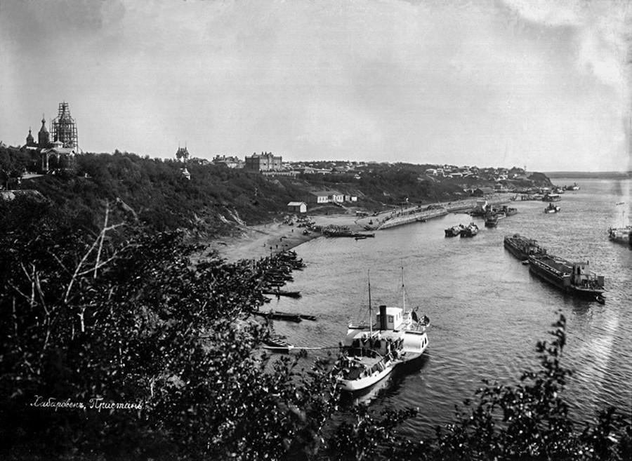 Пристаништето во Хабаровск.
