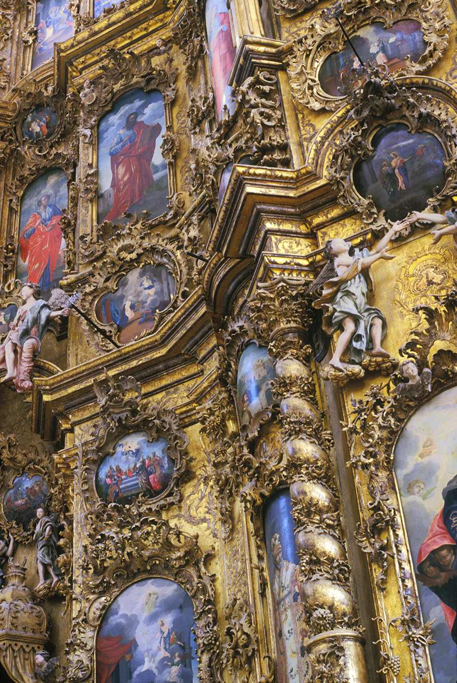 Monastère de la Trinité de Gleden. Iconostase de la cathédrale de la Trinité. Segment gauche avec icônes