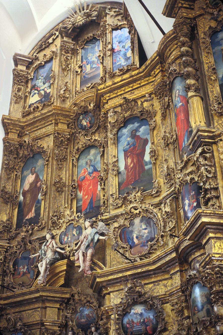 Monastère de la Trinité de Gleden. Iconostase de la cathédrale de la Trinité. Vue d'ensemble du segment de gauche