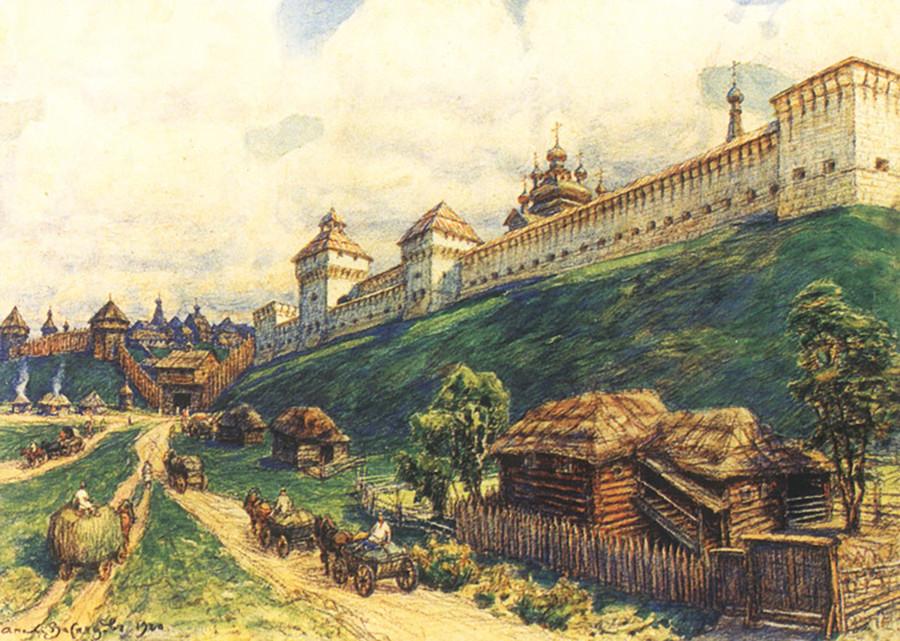 Apollinary Vasnetsov. Old Serpukhov. The 17th century, 1920