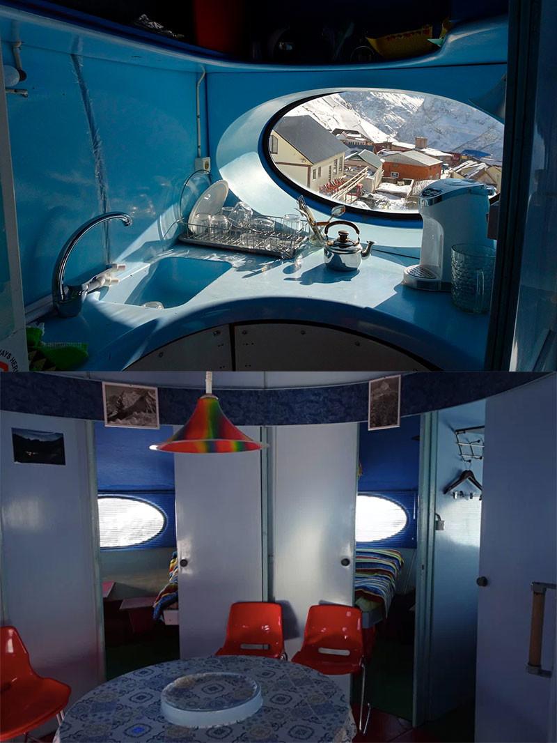 That's how 'Tarelka' hotel looks inside.