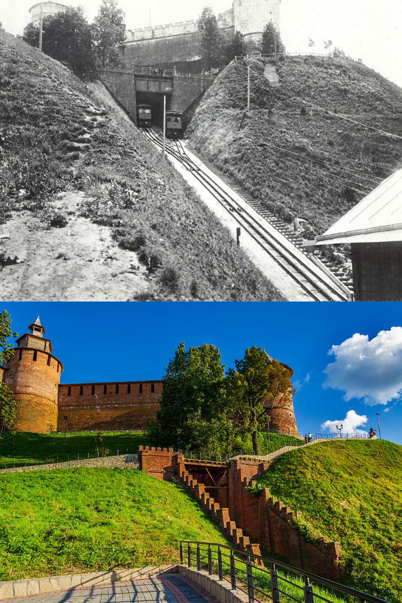 Le funiculaire du kremlin en service... et en ruines