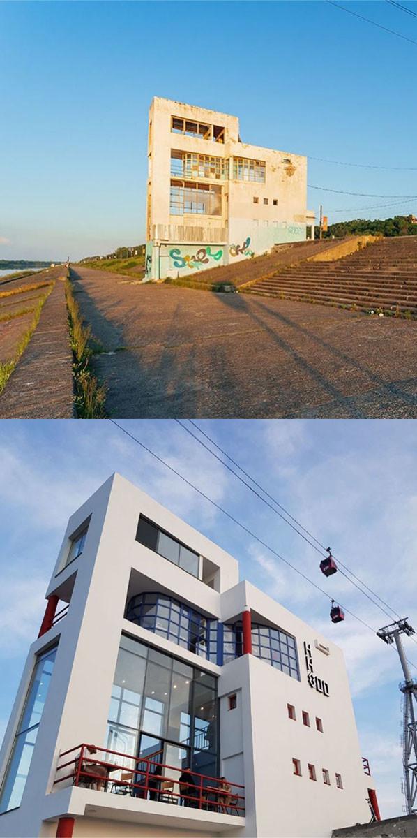 Avant et après restauration, en 2021
