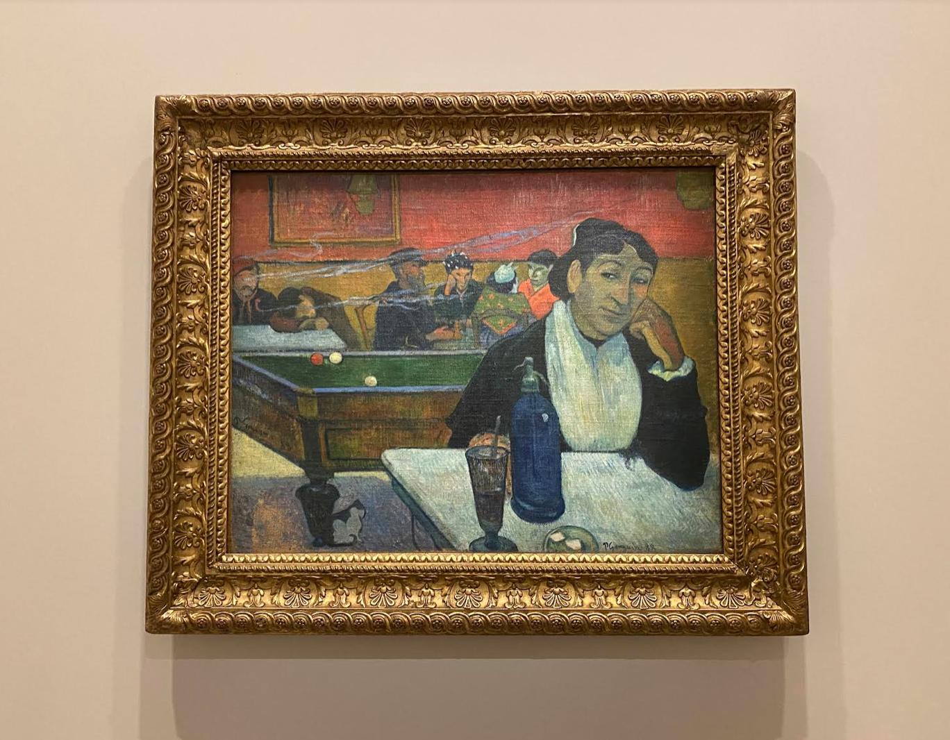 Paul Gauguin. Madame Ginoux au café, 1888