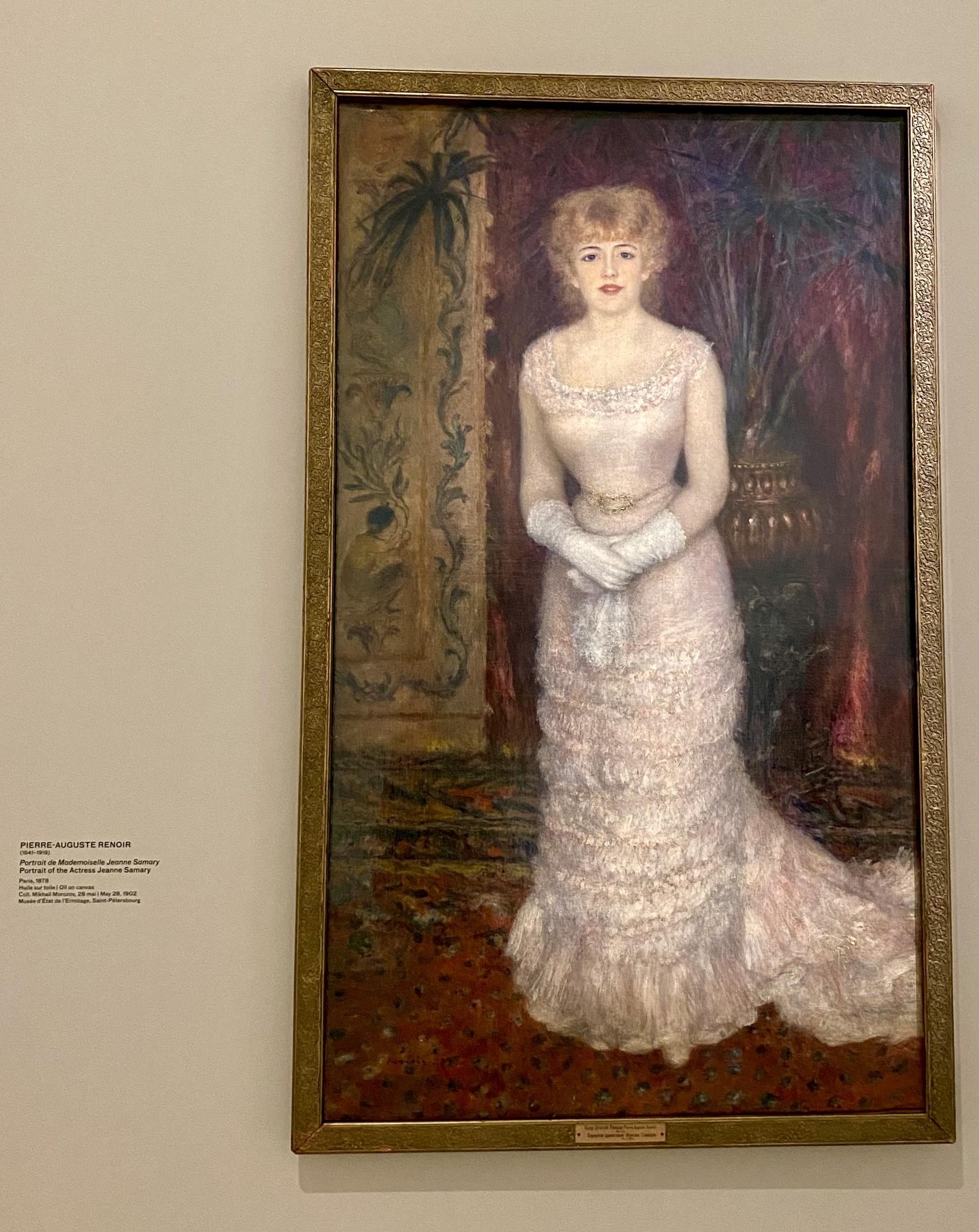 Pierre-Auguste Renoir. Portrait de l'actrice Jeanne Samary