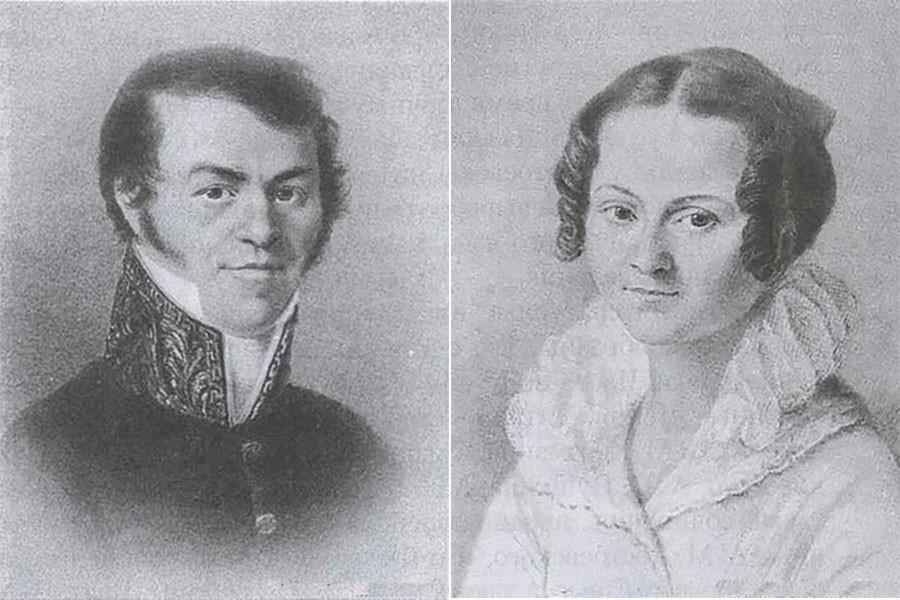 Mikhail Andreyevich Dostoyevsky and Maria Fyodorovna Dostoyevskaya, Fyodor's parents