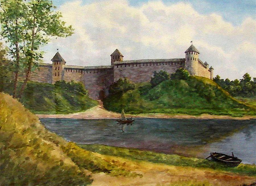 О. Косвинцев «Крепость Ямгород. XV век» (2004)