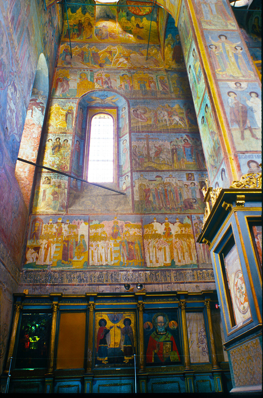 Cathedral of the Annunciation. Interior, northwest corner & north pier. June 26, 1999