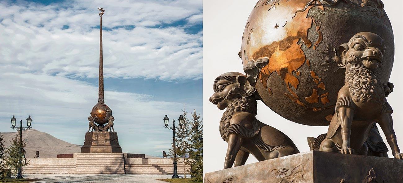 « Centre de l'Asie », complexe sculptural à Kyzyl, République de Touva