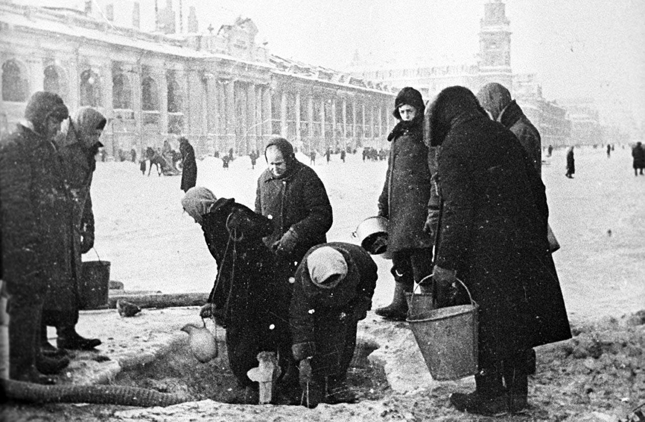 Die Belagerung von Leningrad.