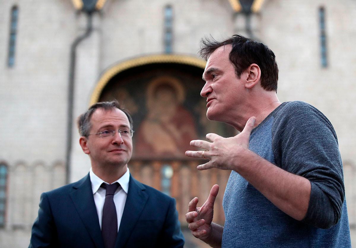 Tarantino und Wladimir Medinski im Kreml.