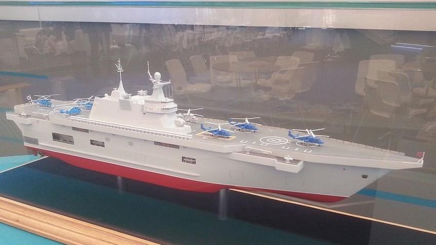 Maqueta de buque de desembarco tipo 'Pribói' en la exposición 'Army 2015'