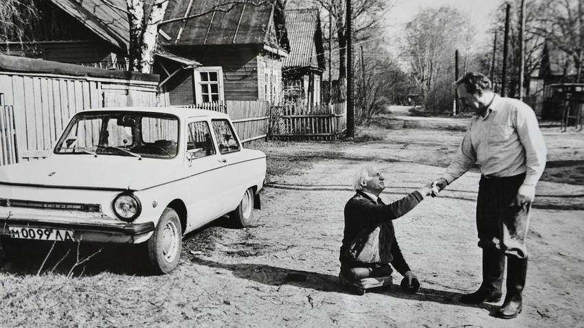 Anatolij Golembievskij, veterano disabile della Seconda guerra mondiale
