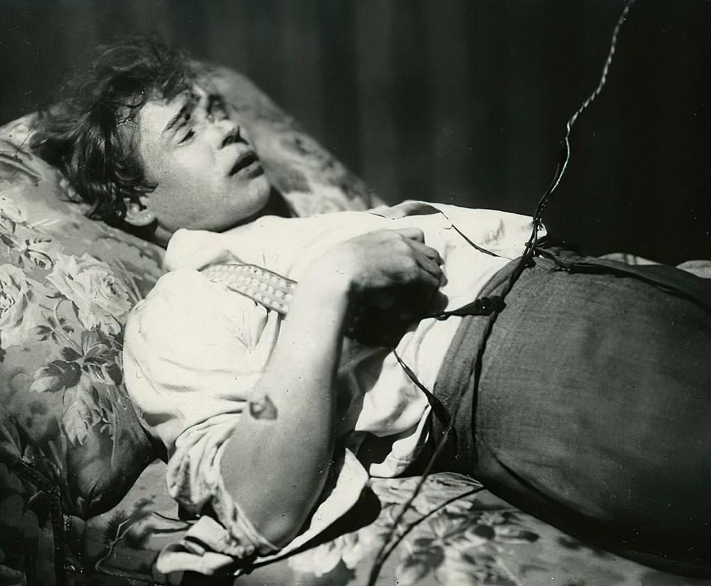 A posthumous photo of Yesenin