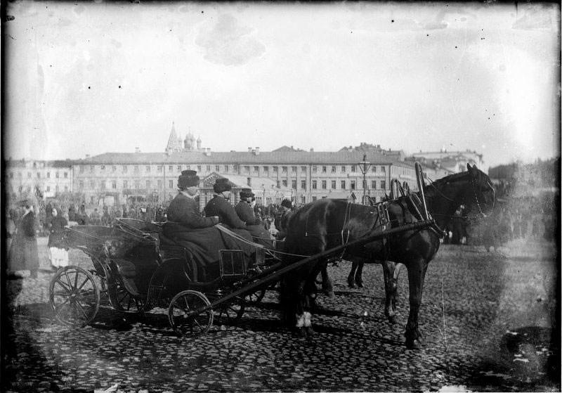 Carroceiros em Moscou, final do século 19