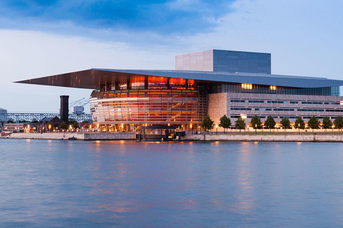 The Copenhagen Opera House (Operaen) in Copenhagen Holmen, Denmark