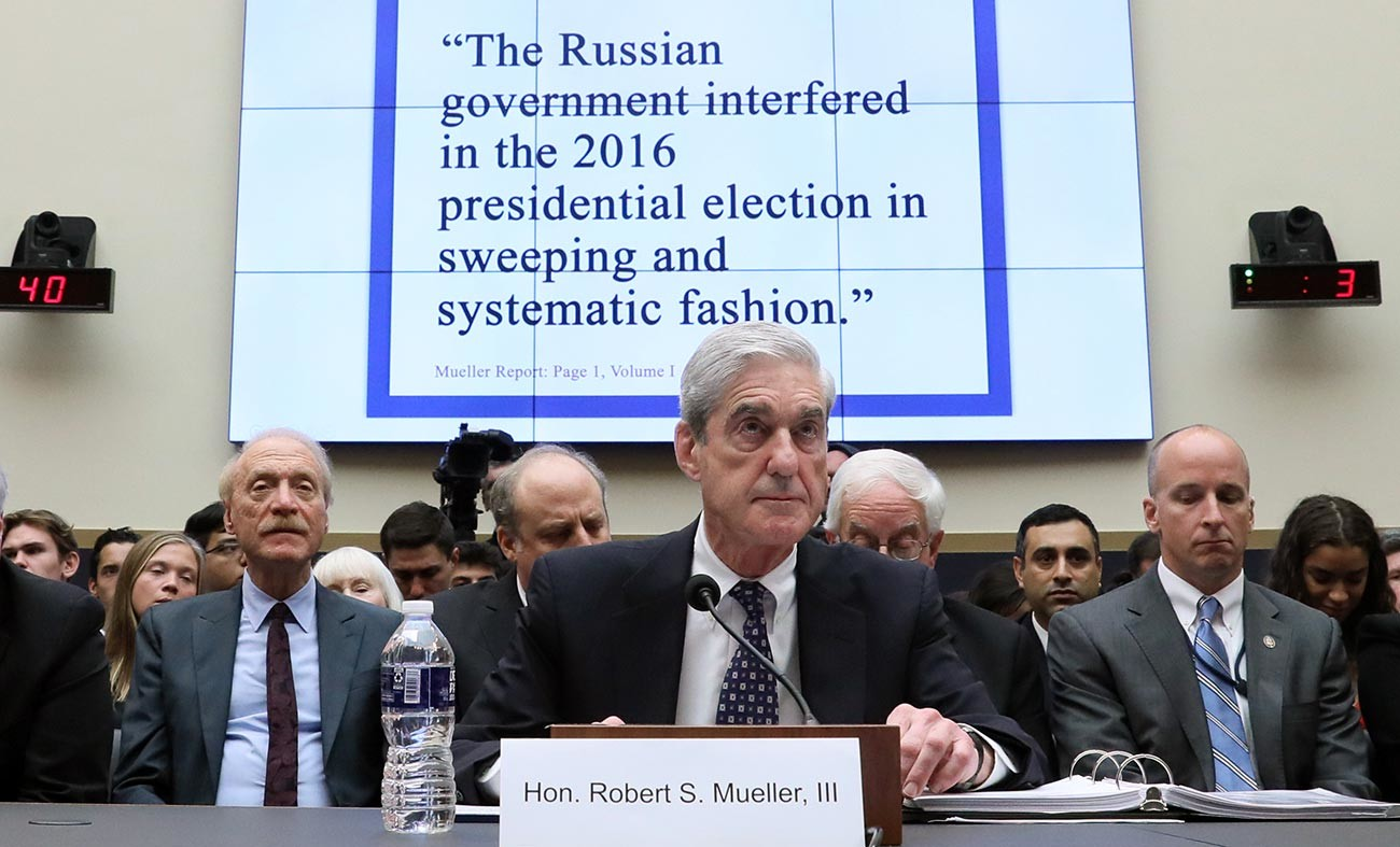 Former Special Counsel Robert Mueller testifies before a House Judiciary Committee in Washington, DC.