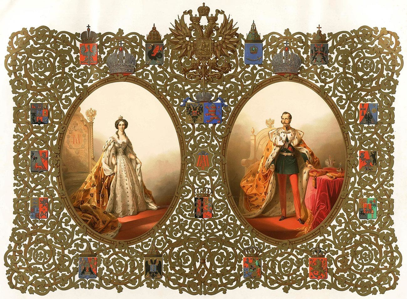 Portrait of Their Imperial Majesties