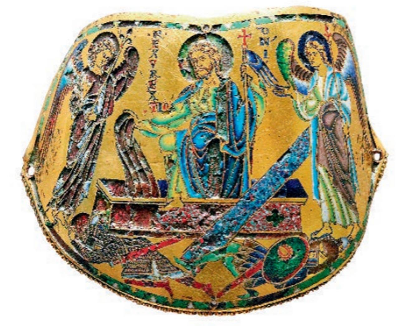 'Resurrection of Christ' armour shoulder-piece
