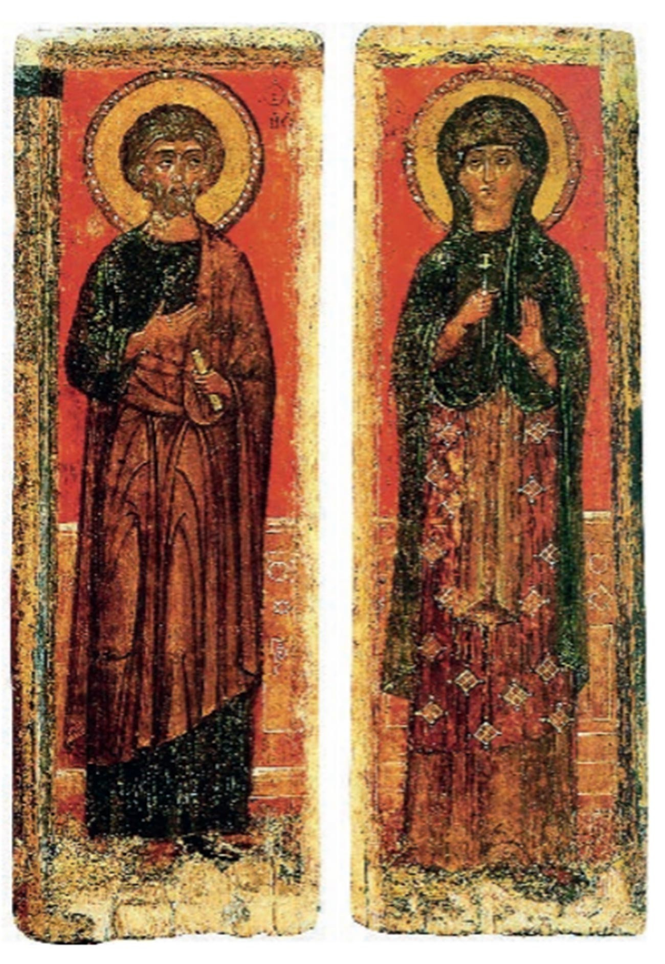 Icon of the Apostle Peter and the unknown Great Martyr