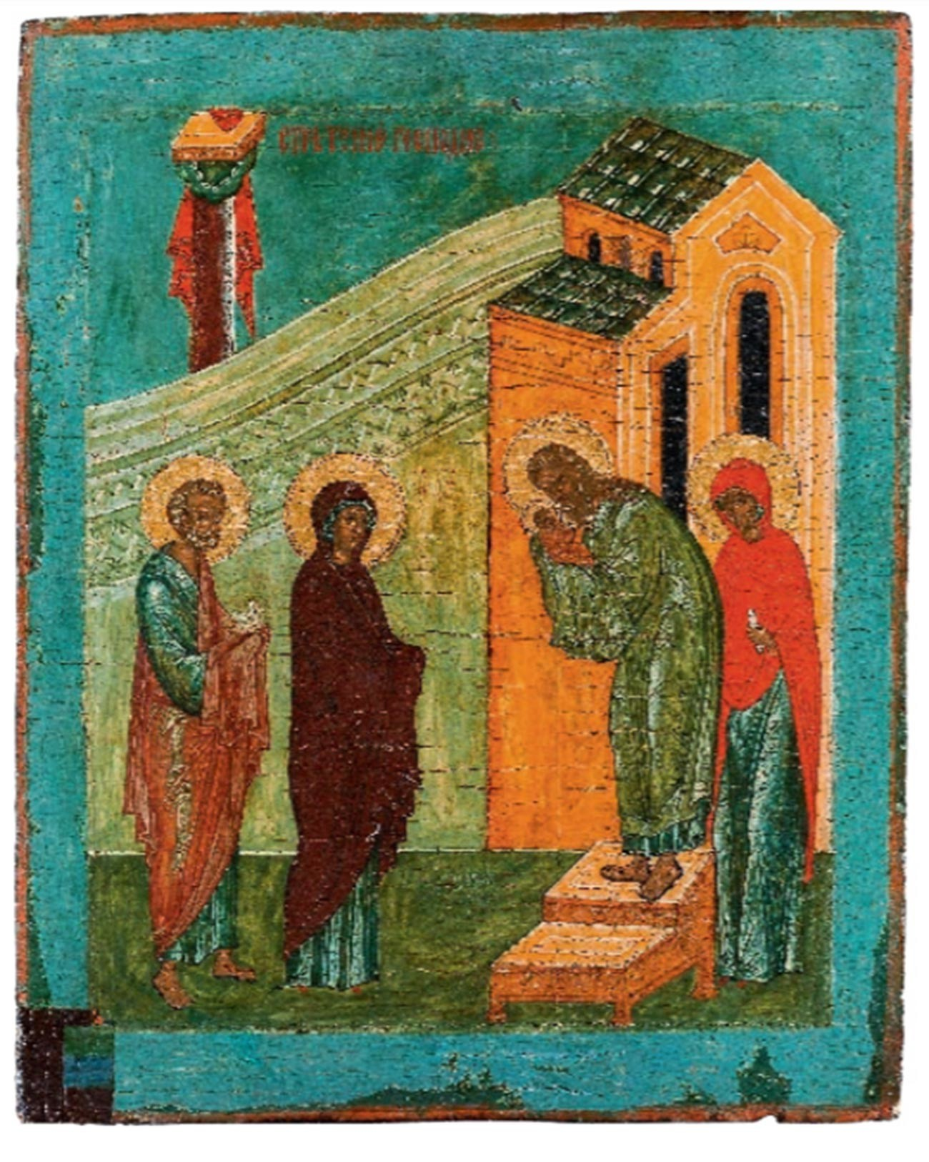The Introduction to the Temple of the Blessed Virgin Mary icon