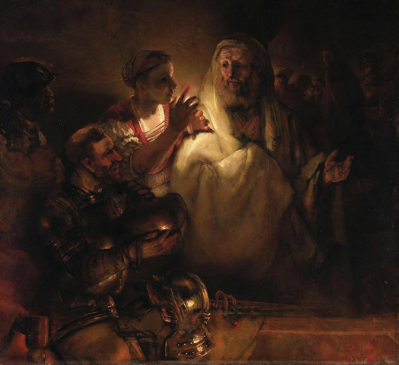 Rembrandt. The Denial of Saint Peter
