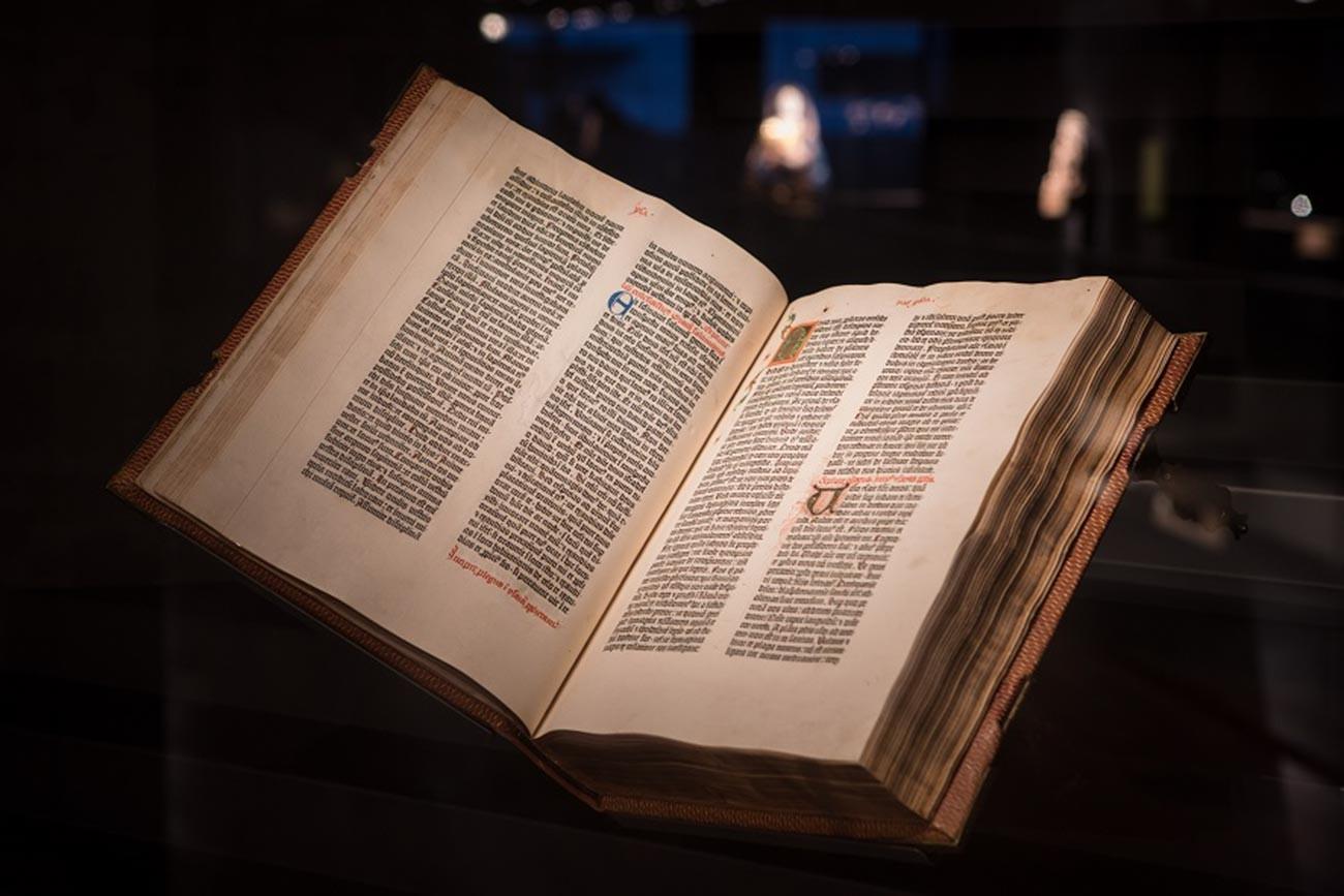 A Guttenberg Bible at the Martin Bodmer Foundation