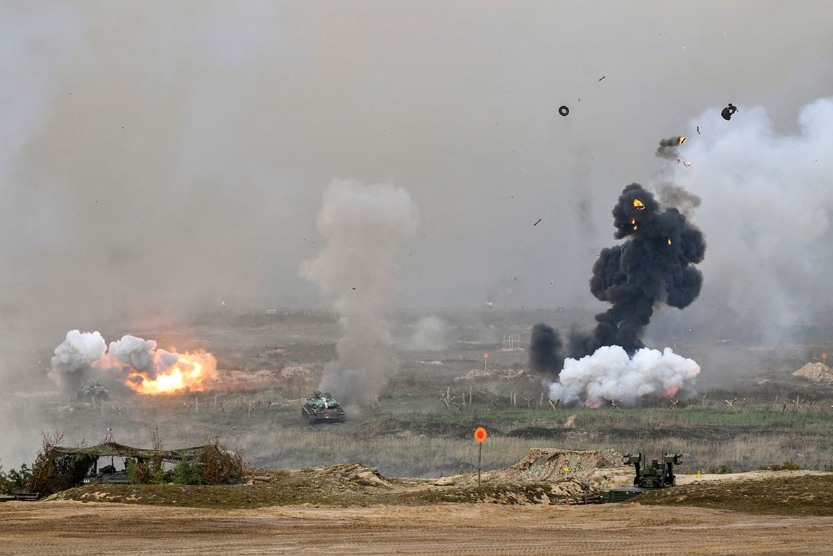 Uran-9 at the West-2021 military exercises