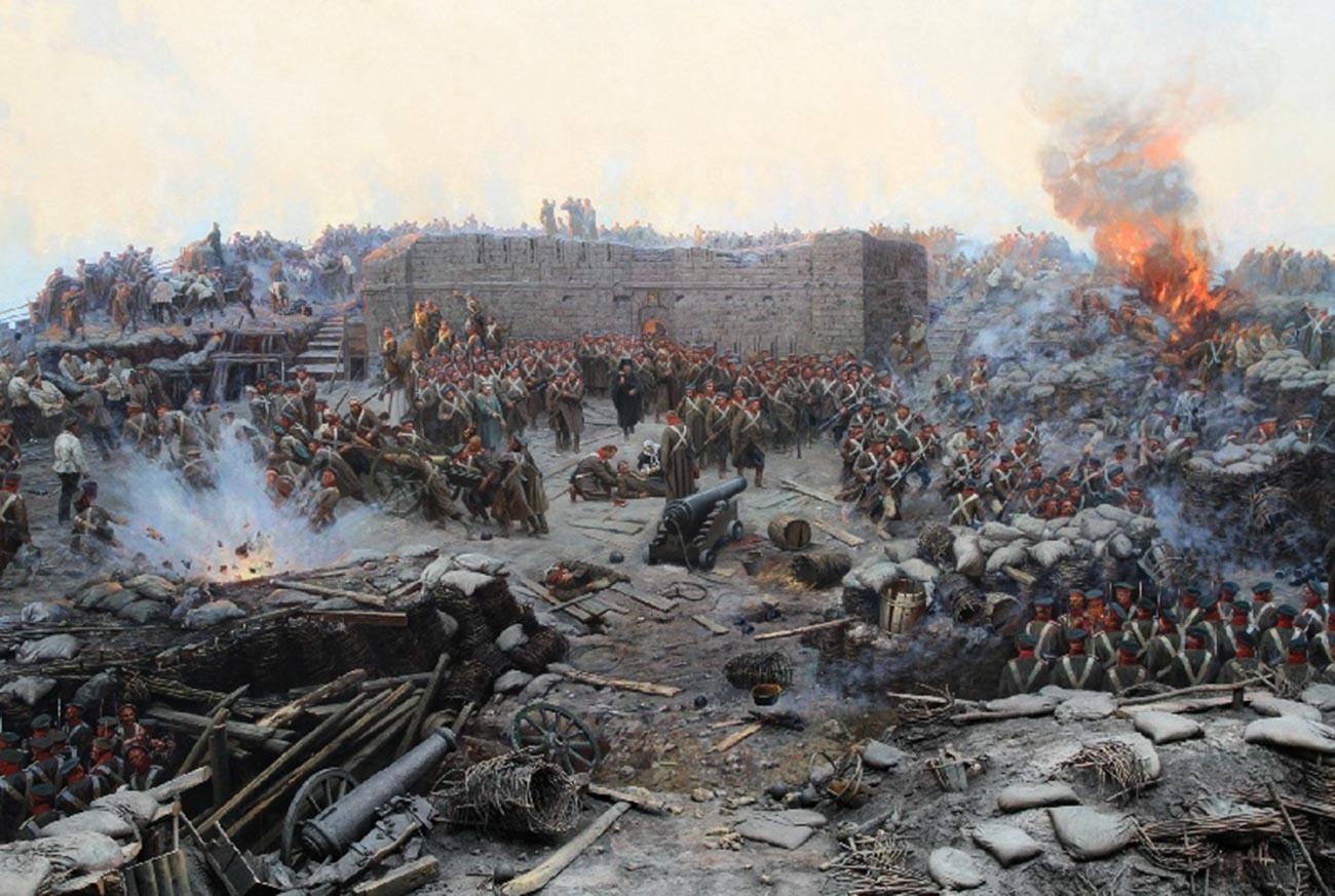 Франц Рубо. Панорама «Оборона Севастополя 1854—1855 гг.» (Фрагмент)