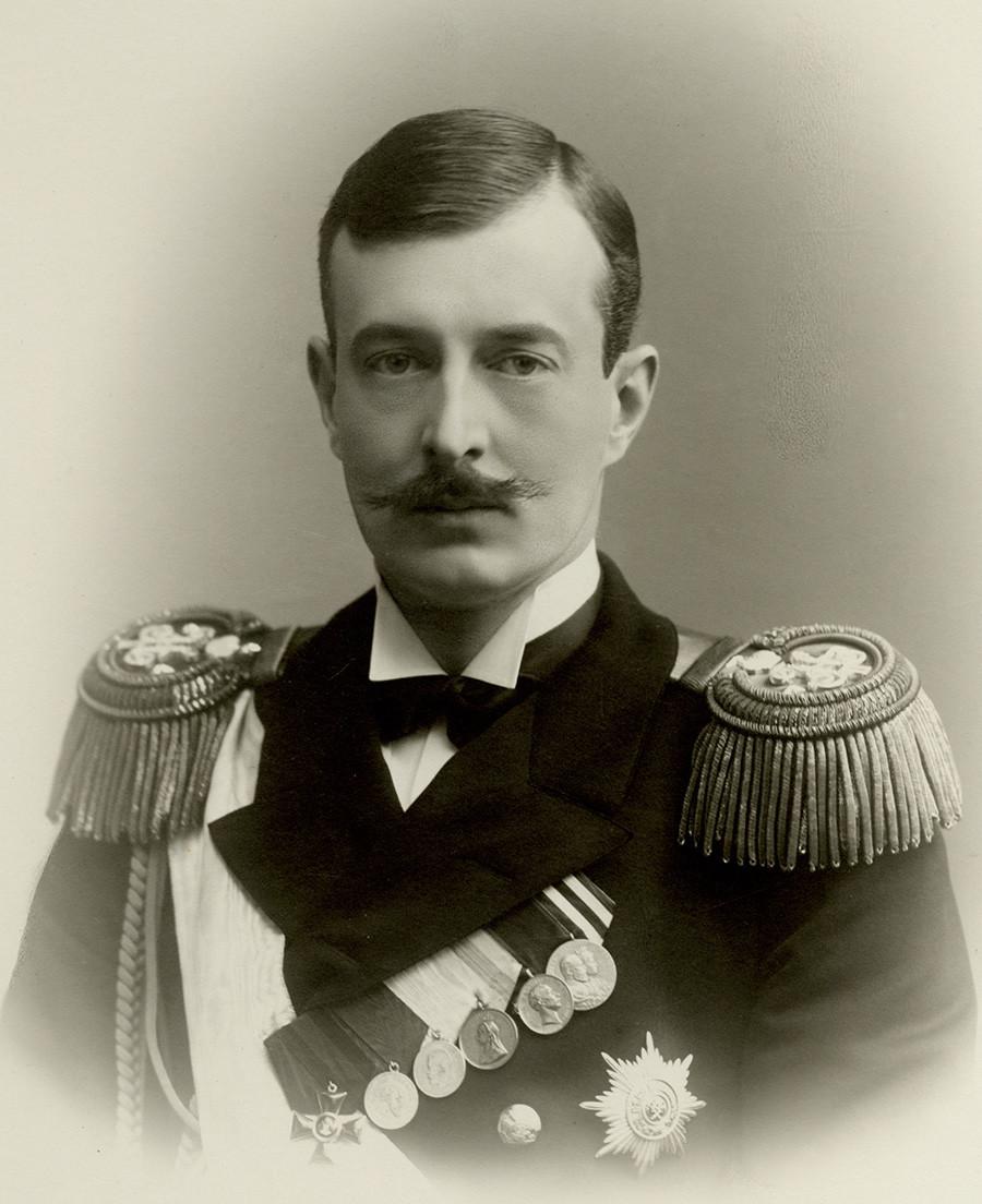 Grand Duke Kirill Vladimirovich, Georgy Romanov's maternal great-grandfather.