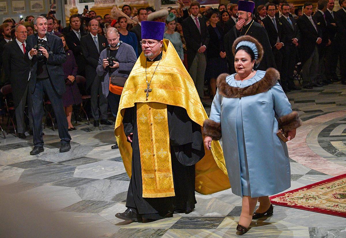 Maria Vladimirovna attending the ceremony.