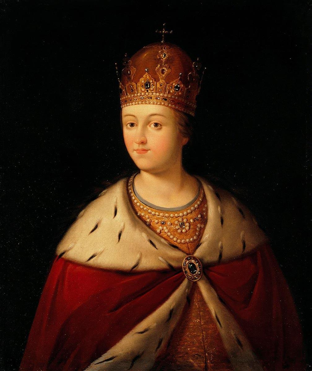 София Алексеевна, неизвестен руски художник, Ермитаж