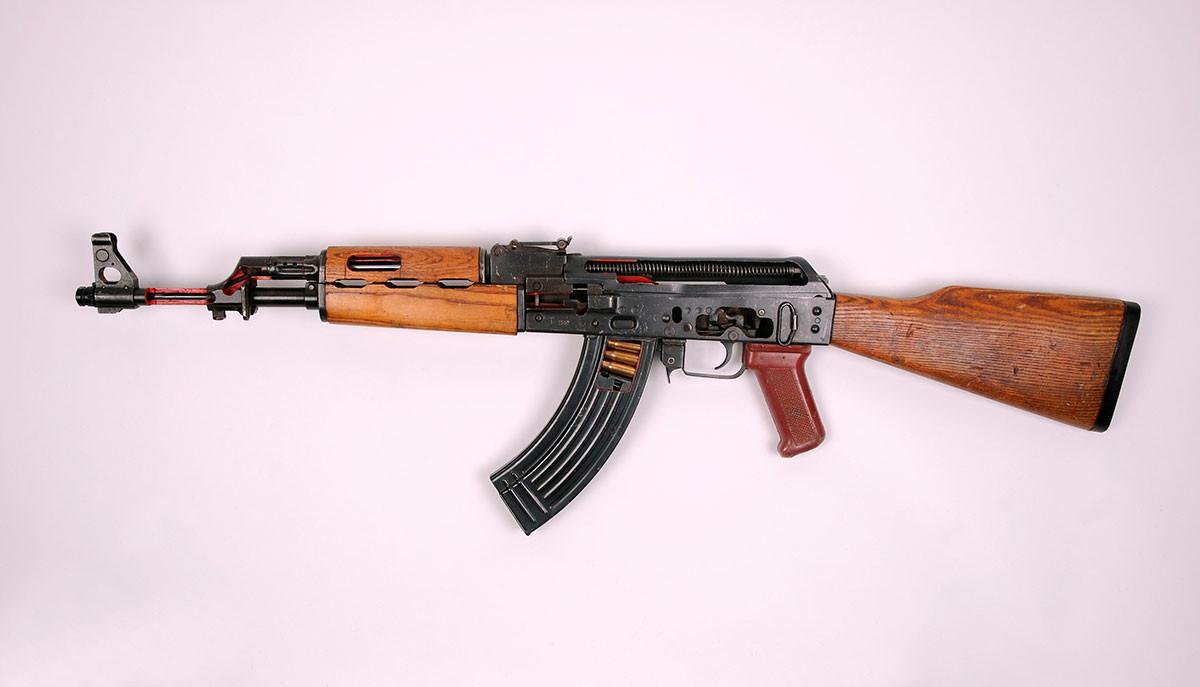 An Armorer's Cut Away AK47 Showing Internal Workings. This Is An Iraqi Tabuk Version Of The Kalashnikov
