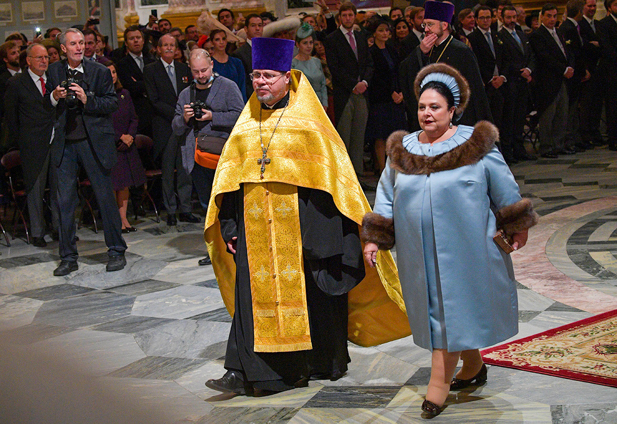 Maria Vladimirovna alla cerimonia