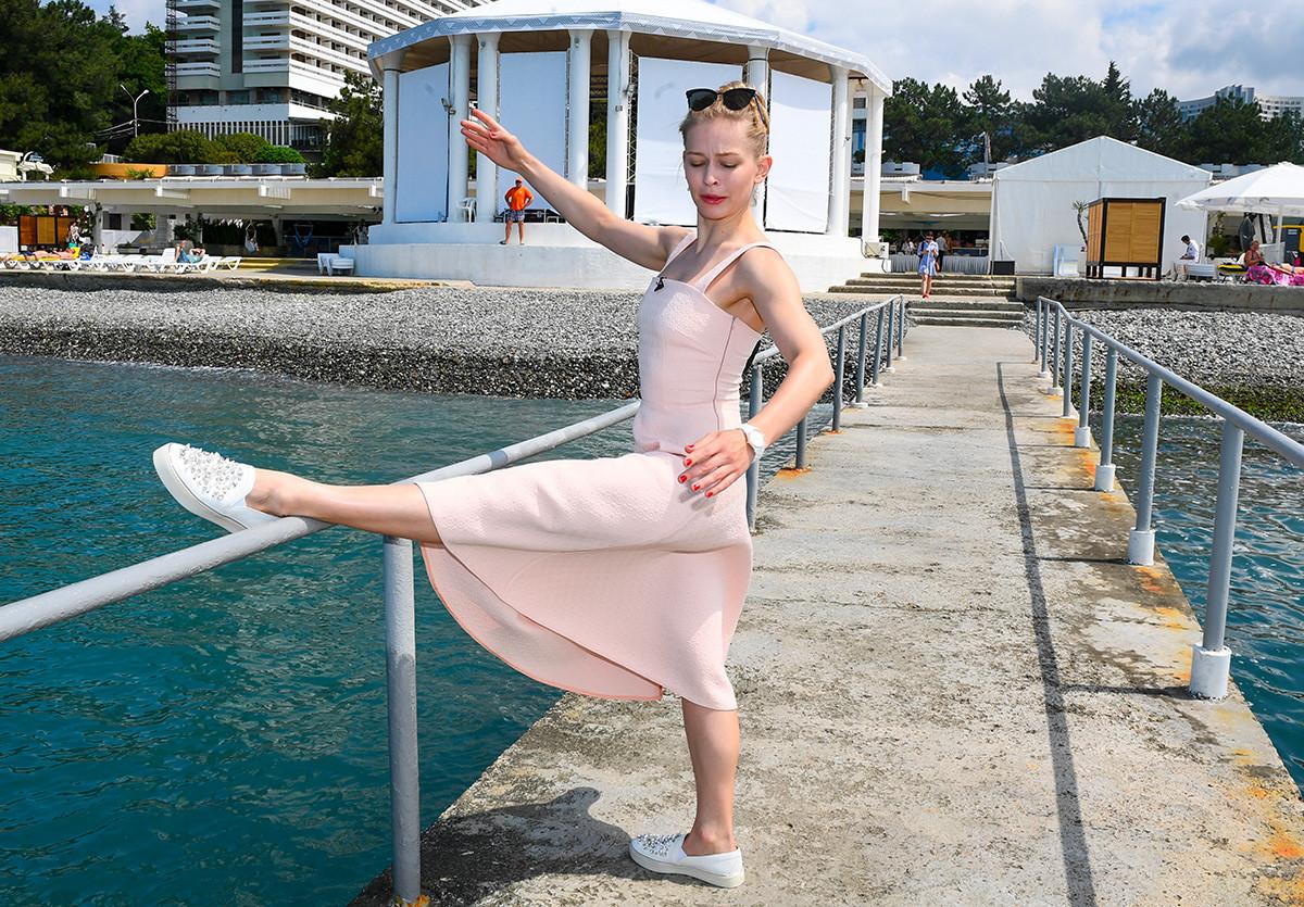 Актрисата Юлия Пересилд на 28-мия Открит руски кинофестивал