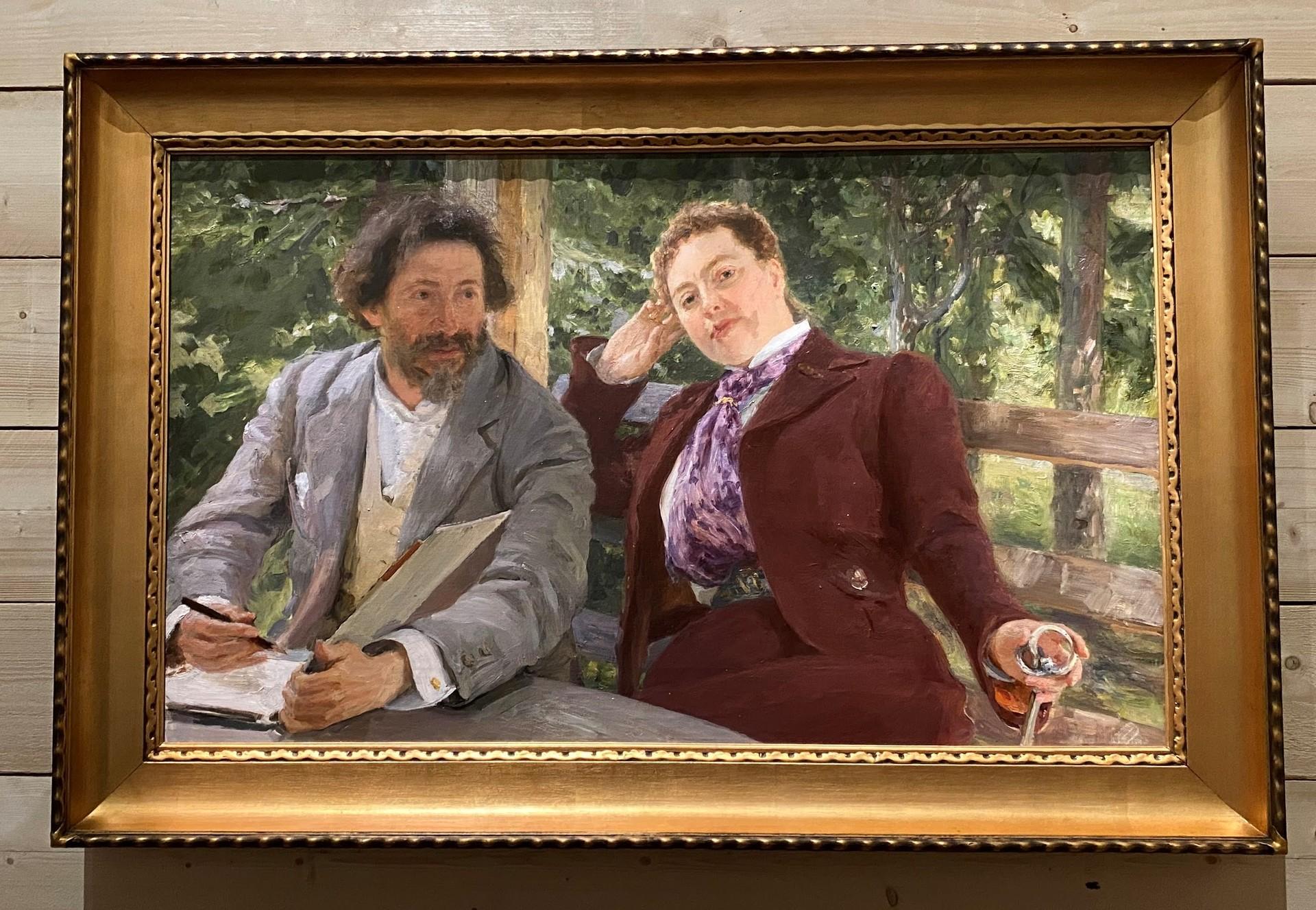 Autoportrait avec Natalia Nordman, 1903