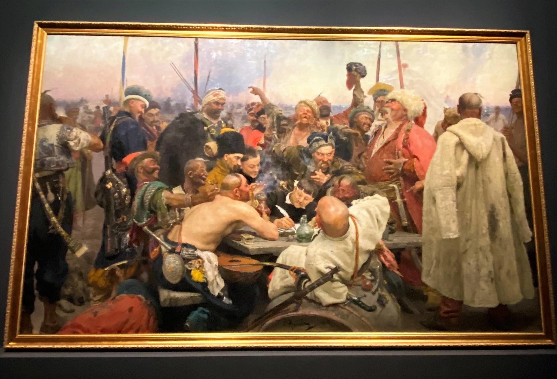 Les cosaques zaporogues écrivant une lettre au sultan de Turquie