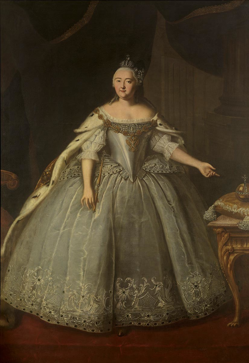Ivan Veshnyakov. Portrait of Elizaveta Petrovna, 1743