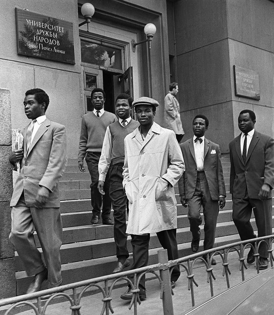 Students at the Patrice Lumumba University in Moscow.
