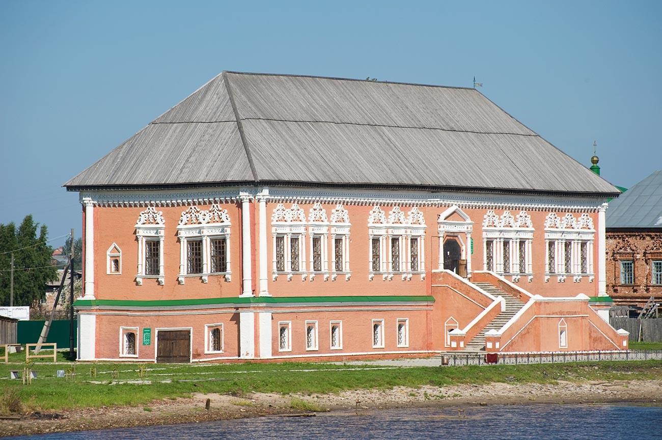 Chambres Stroganov. Vue depuis la rivière Kama