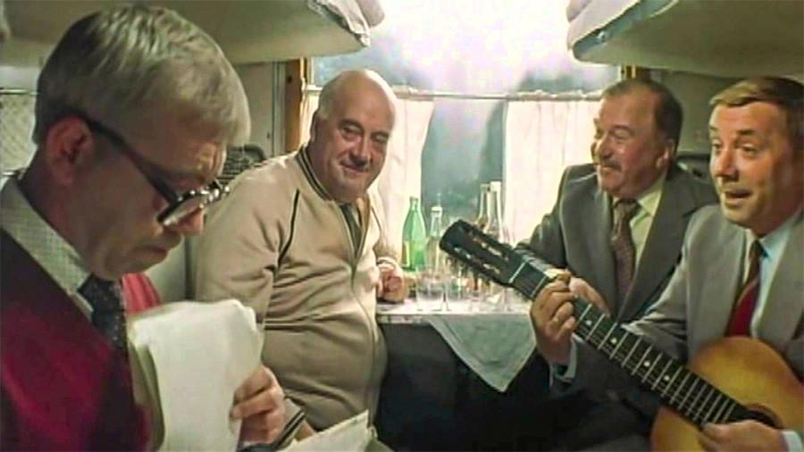 A still from 'We're Sitting Good' (Хорошо сидим) movie