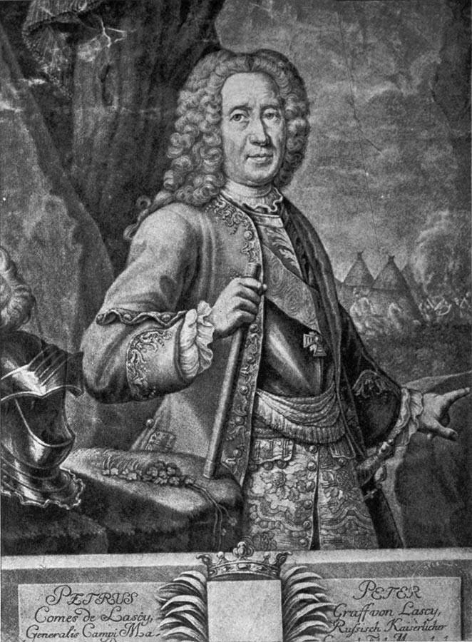 Peter von Lacy, 18. stoletje