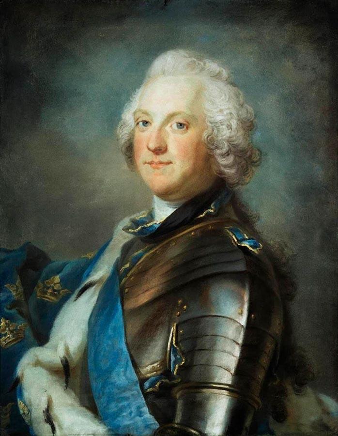 Adolf Friderik, švedski kralj. Gustaf Lundberg, 18. stoletje