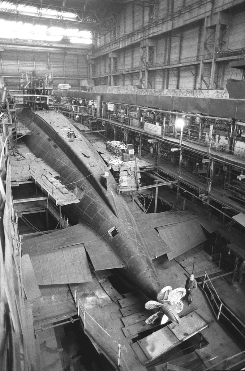 One of the submarines that was produced at the Krasnoe Sormovo plant.